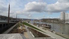 Vue de la Seine à Rouen.